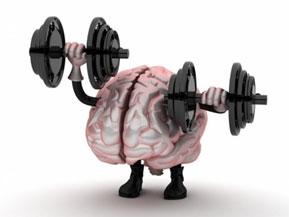 Мозг с гантелями