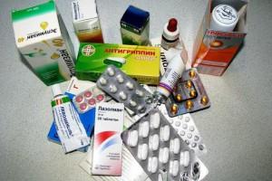 Лекарства в кучке