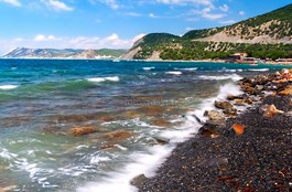 Красивый вид на море