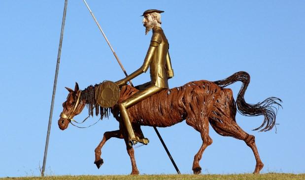 Дон кихот на лошади