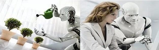 Робот помогает человеку