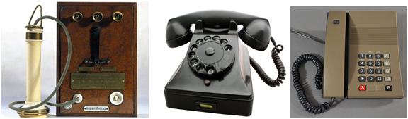 Телефоны разных времен